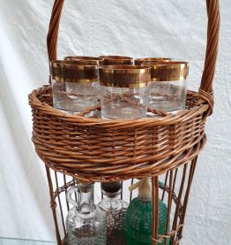 mini bar ,osier vintage