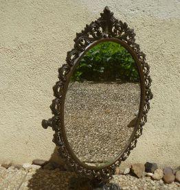 miroir  psyché  ancien ,  régule