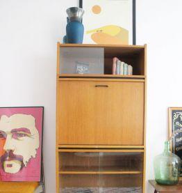 Secrétaire design vintage moderniste style Guariche