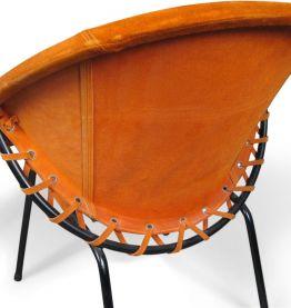 Chaises Ballon en Cuire Orange
