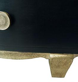Chevet art déco noir et or