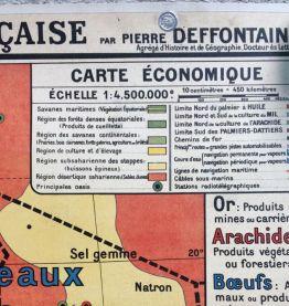 Carte d'école cartonnée ancienne Deffontaines n°51 Afrique o
