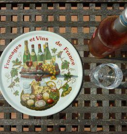 Plateau à fromages et vins de France en porcelaine CNP