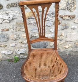Chaise Art Nouveau en bois