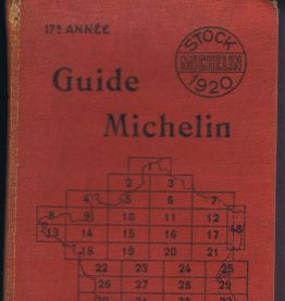 Guide rouge Michelin France 1920