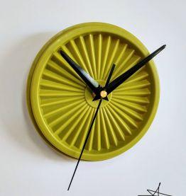 """Horloge vintage, pendule """"Tupperware Vert"""""""