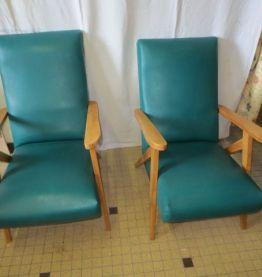 """fauteuil annees 50 """"sauterelle"""""""