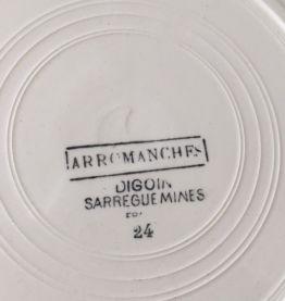 6 assiettes Sarreguemines Digoin - Modèle Arromanches