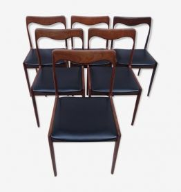 6 chaises scandinaves années 50