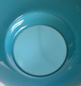 Grand pied de lampe opaline bleue