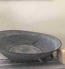 Grande bassine plate en zinc luckyfind - Grande bassine ovale zinc ...