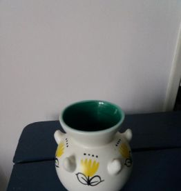 Vase Vallauris à motif floral