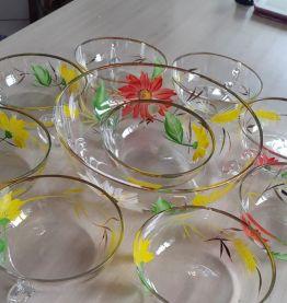 Service à fruits ou glaces cristal de Bohême