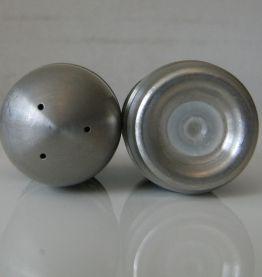 Salière ,poivrier en forme d'ogive métal art