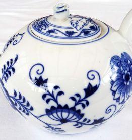 Théière tchèque Oignon bleu années 50