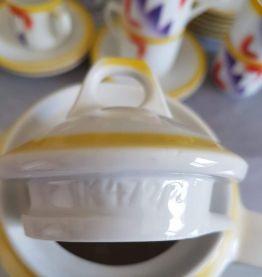 service à café  porcelaine 23 pièces années 70