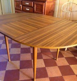 Table vintage bois et formica
