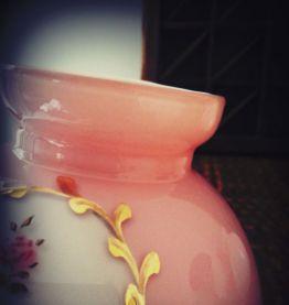 vintage abat jour opaline - globe verre rose- luminaire
