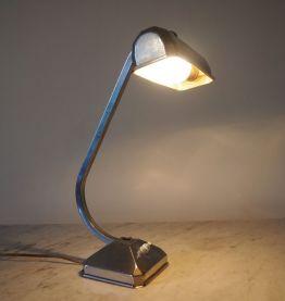 Lampe de bureau vintage en métal, style atelier / industriel