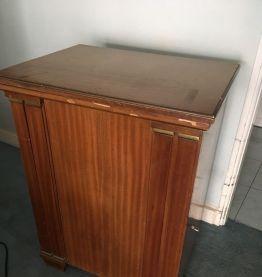 Table de couture 1930 singer avec machine et pedalier
