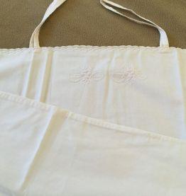 Lot Ancienne petites chemises coton brodées
