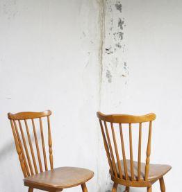 """Série 6 chaises Baumann vintage """"Tacoma"""" estampillées 60's"""