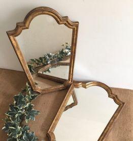 Paire de miroirs anciens, 28x38cm