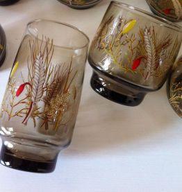 Ensemble de 8 verres vintage