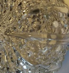Plafonnier en verre 70's