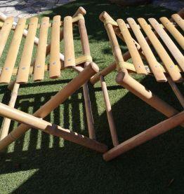 Deux tabourets bambou pliants