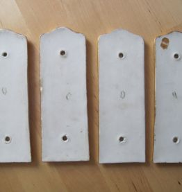 4 anciennes plaques de propreté de porte  porcelaine limoges