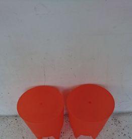 Tabouret-coffre BUBU 1er orange