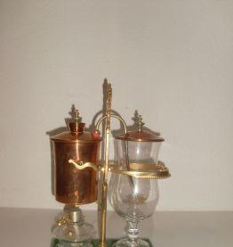 Machine Café vintage cuivre cristal Suisse