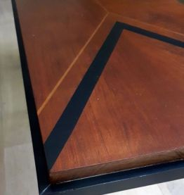 Table basse vintage pieds compas année 60