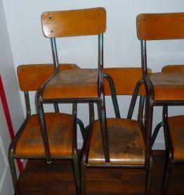 Chaises d'école - Lot de 5