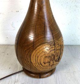 Lampe vintage 60's en chêne massif