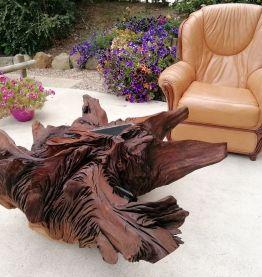 Table basse souche en chêne