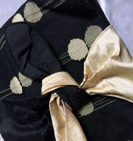 Pochette Ganteb's noire et beige - 100% soie