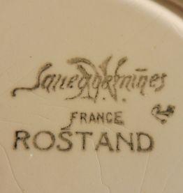 """Service 6 assiettes liserer bleu Sarreguemines """"Rostand"""""""