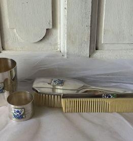 Cadeau de naissance en métal argenté