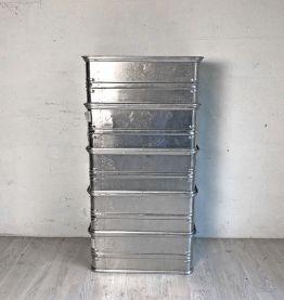 Ensemble de 5 caisses empilables en Aluminium
