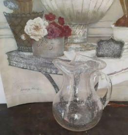 superbe carafe en verre soufflé de Biot