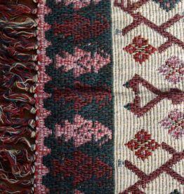 Petit tapis ethnique multi-couleurs