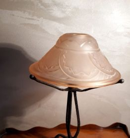 petite lampe fer forge 1920