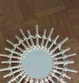 Trois miroirs soleil en rotin