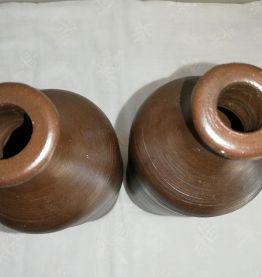 Anciennes bouteilles en grès (la paire)