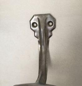 Ensemble de 2 patères métal, décoration industrielle
