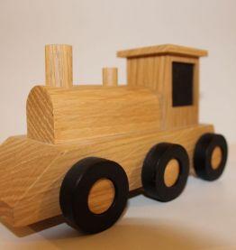 Locomotive en bois naturel