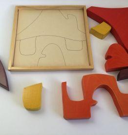 Jouet vintage  puzzle en bois