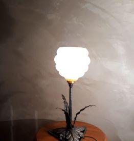 lampe a globe clichy style art deco 40x